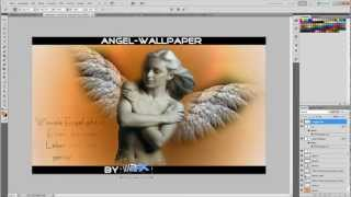 Angel Wallpaper Speedart I By Wwpgfx [hd]