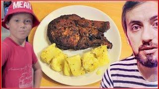 Готовим мясо Стейк свинины в духовке Рецепт от Папы и СЫНА  Семейный ужин