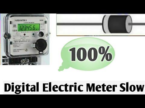 Digital Electric Meter Slow 100 Working Electric Meter Hack Digital Electric Meter Reduce Bill Youtube