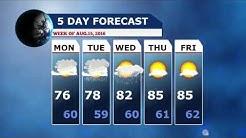 Joe Sepe's Westford Weather - Week of August 13, 2016