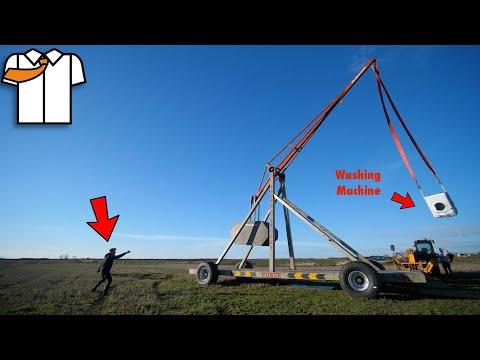 MASSIVE Trebuchet/Catapult First Test