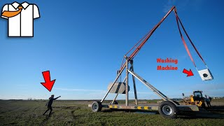 MASSIVE Trebuchet/Catapult First Test