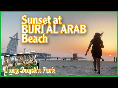 BURJ AL ARAB | SUNSET @ BURJ AL ARAB BEACH & UMM SUQEIM PARK