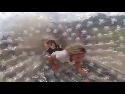 Downhill Hydro Zorbing at The Jungle