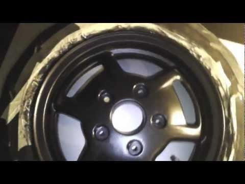 Roller Umbau Restaurierung Sfera RST 50 C01 Teil 17/? Felge-lackieren-OUTTAKES