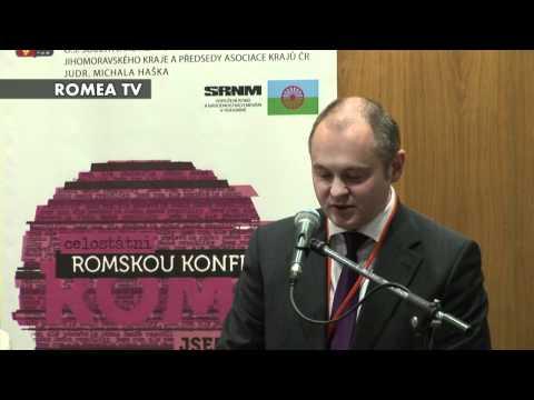 Michal Hašek - celostátní romská konference v Brně