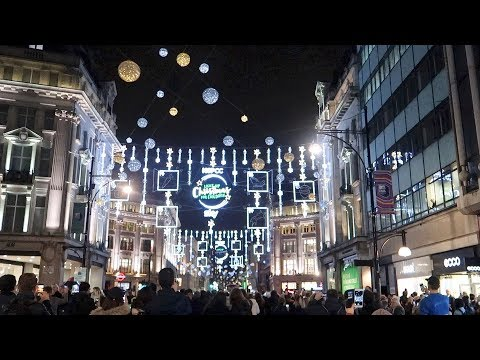London oxford street christmas lights switch on 2017