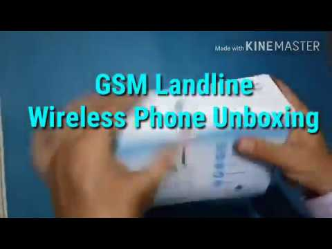 GSM SIM based Landline Wireless Phone Unboxing