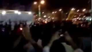 #المنصورة أهالي مركز #طلخا يجبرون انصار #المعزول علي فض مسيرتهم أمام مكسيم منذ قليل