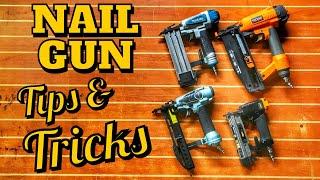 Nail Gun Tips and Tricks and... My Worst Injury from a Brad Nail | DIY Woodworking tips