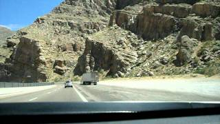 Driving through the Virgin River Gorge Northbound on I-15 in Arizona