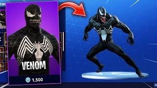 *NEW* Venom Skin In Fortnite Showcase & Unreleased Emotes (Fortnite Battle Royale #104)
