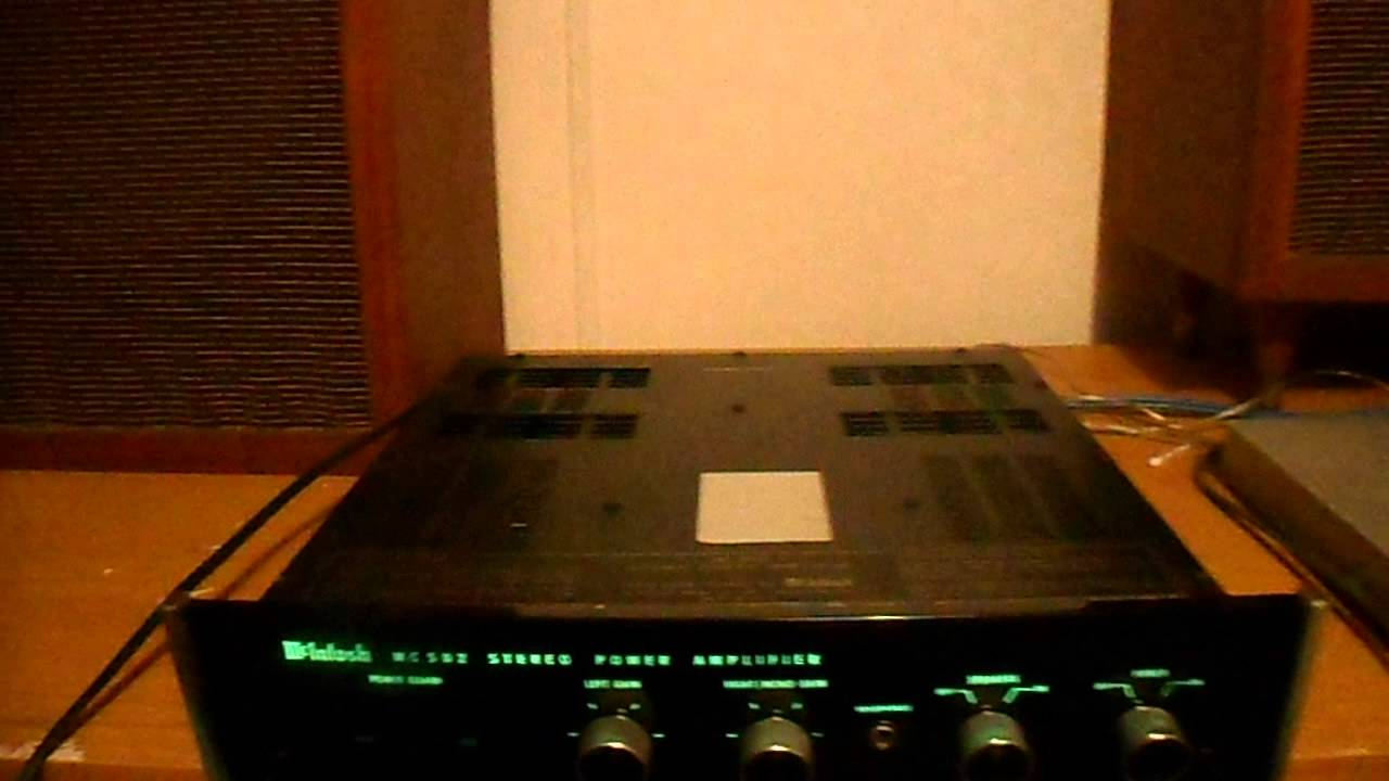 mcintosh mc 502 stereo amplifier youtube