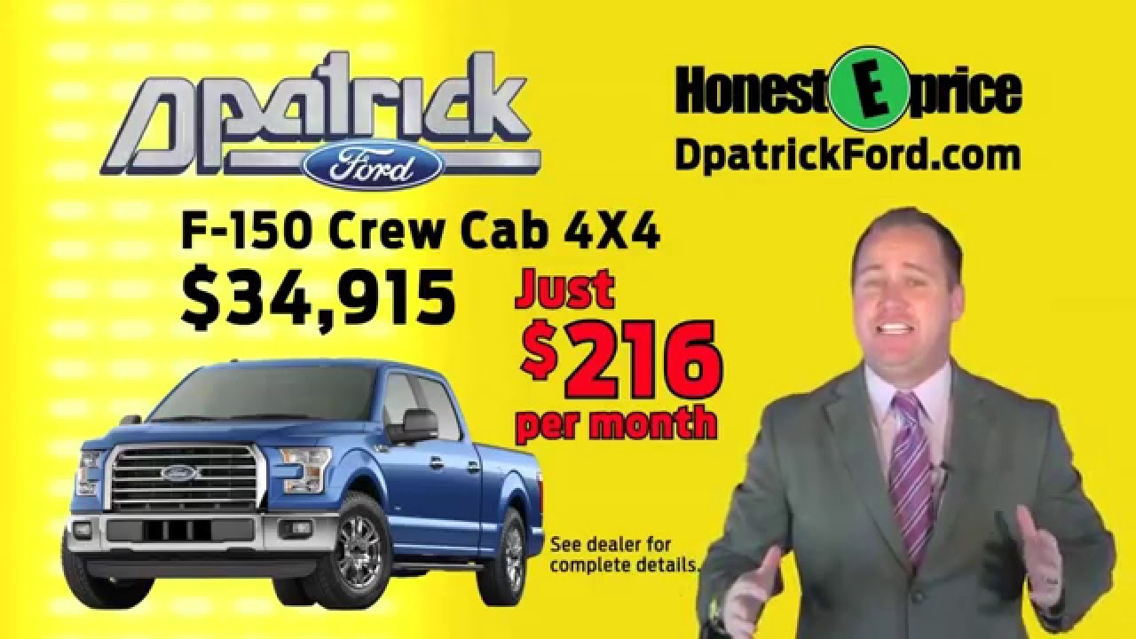 Evansville F150 Specials At D Patrick Downtown Ford