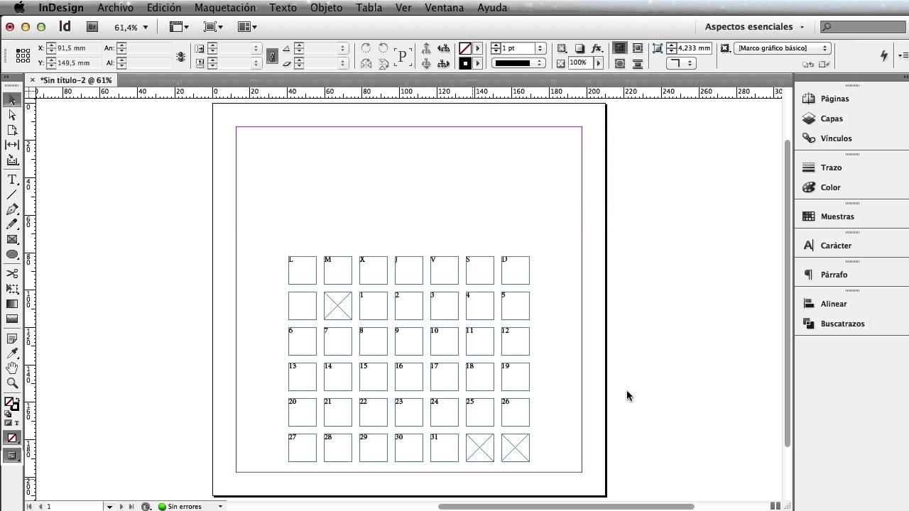 Calendario Indesign.Como Crear Un Calendario Con Adobe Indesign Cs6