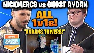 ALL NICKMERCS VS Ghost Ayden fights (Summer skirmish)