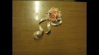 Как сделать бутоньерки для подружек невесты своими руками