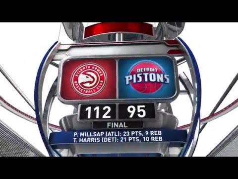 Atlanta Hawks vs Detroit Pistons - March 26, 2016