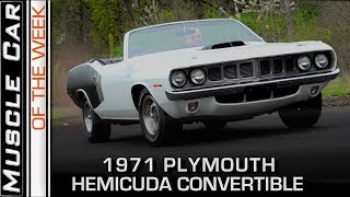 1971 Plymouth hemicuda Convertible: Muscle Car Of The Week Video Episode 245 V8TV
