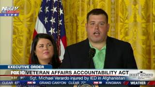 WATCH: Ret. Sgt. Michael Verardo, Injured by IED, Speaks at Signing of VA Accountability Act (FNN)