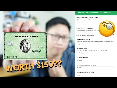 Is The $150 Amex Green Card Worth It? (Calculator)