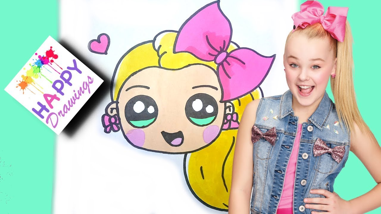 How to draw jojo siwa emoji cute easy step by step drawing tutorial