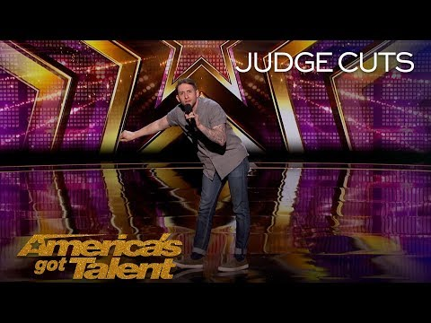 Samuel J. Comroe: Comedian Delivers Hilarious Take On Marriage Proposals - Americas Got Talent 2018