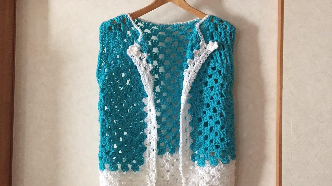 Crochet Easy Granny Square Vest - YouTube