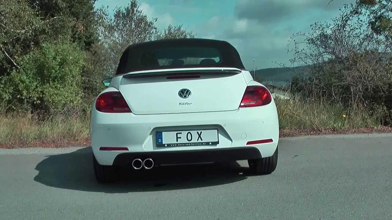 fox sportauspuff endschalld mpfer vw beetle typ 16 cabrio