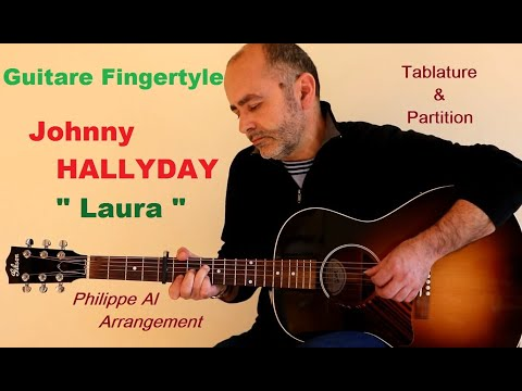 Johnny Hallyday - Laura - Guitare Fingerstyle