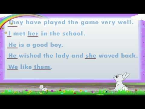Learn Grade 1 - English Grammar - Pronouns