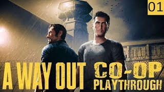 A WAY OUT - PART 1 - MAKE FRIENDS, ESCAPE PRISON - Co-Op Featuring Katicakes - Gameplay (1440p)
