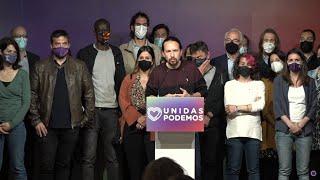 Iglesias abandona la política tras los resultados en Madrid