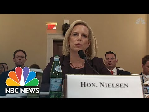 Kirstjen Nielsen At Border Security Hearing: 'We Don't Use Cages For Children'   NBC News