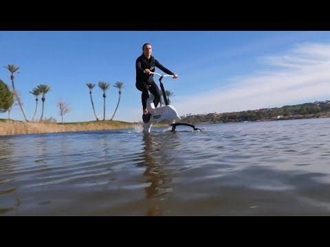 The electric bike that allows you to cycle on water