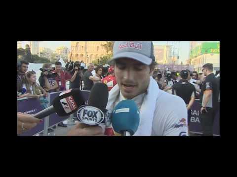 Entrevista Carlos Sainz Jr P8 Post Race Baku F1 2017