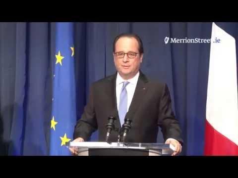 Press Conference: Taoiseach Enda Kenny and President Francois Hollande