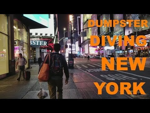 Dumpster diving in New York