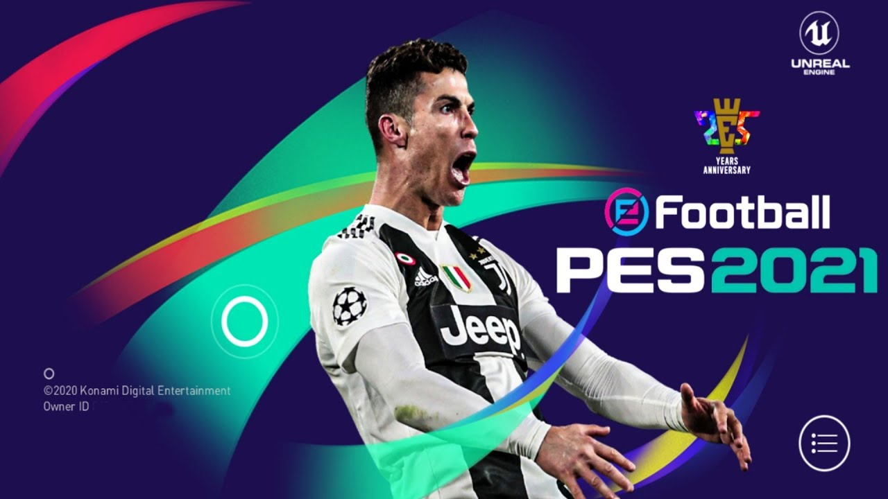 PES 2021 Mobile Patch Last Update Android Best Graphics New Menu Full Original Logo and Kits 2021