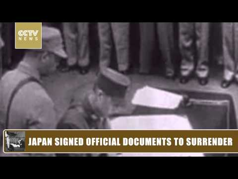 Japan signed official documents to surrender