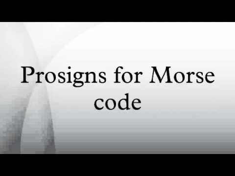 Prosigns for Morse code HD