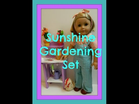 American Girl Doll ~Opening~ Sunshine Gardening Bench Set MyAG