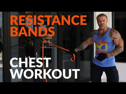 Build a Big Chest at Home Using Only Resistance Bands