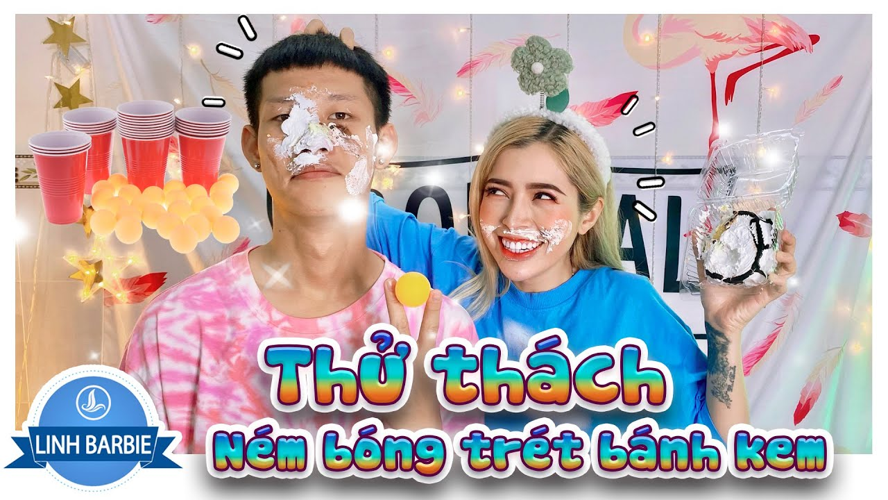 Thử Thách Ném Bóng Trét Bánh Kem - Trò Chơi Hot Tik Tok I Linh Barbie Vlog