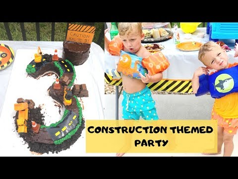 CONSTRUCTION THEME 3 YEAR OLD BIRTHDAY PARTY 🚧🚚
