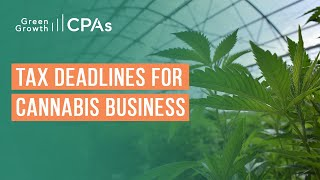 Upcoming State/Federal Cannabis Business Tax Deadlines