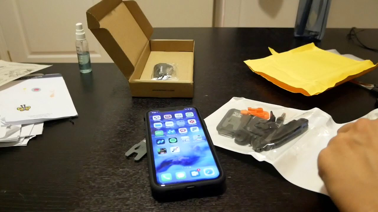 sports shoes 04424 fb198 ARMOR-X APPLE IPHONE X SHOCKPROOF RUGGED CASE and Gopro mount on spivo open  box & full review!