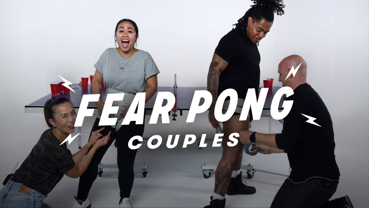 Couples Play Fear Pong (Elissa & Peter vs. Casey & Jarvis)   Fear Pong   Cut
