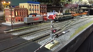 mth dcs o scale train layout update winter 2016