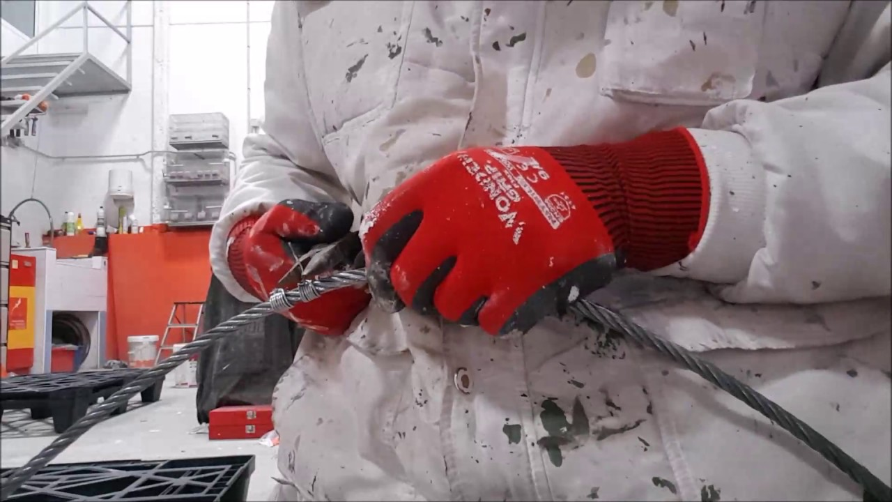 Rope access technician - How i make wire rope slings - YouTube